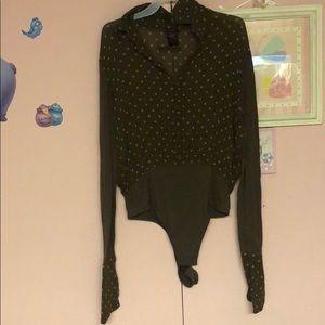 Jean Paul Gaultier Classique blouse bodysuit